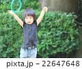 輪投げする女の子 22647648