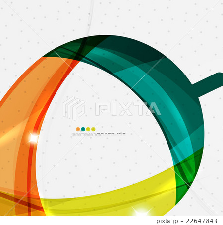 Smooth wave line abstract backgroundのイラスト素材 [22647843] - PIXTA