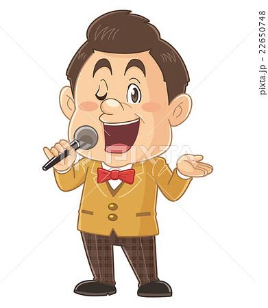 テレビ番組で司会をするタレントのコミカルでかわいい人物イラスト|いわたまさよし 22650748