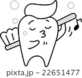 歯 歯磨き 歯ブラシのイラスト 22651477