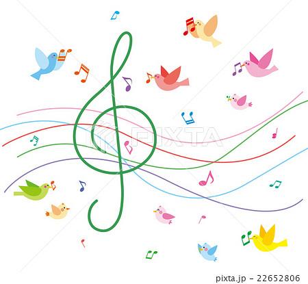 音楽と小鳥のイラスト素材 [22652806] - PIXTA
