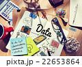 デスク 机 ごちゃごちゃの写真 22653864