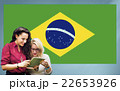 Brazil National Flag Studying Women Students Concept 22653926