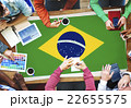 Brazil National Flag Business Team Meeting Concept 22655575