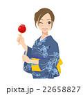 女性 浴衣 夏祭りのイラスト 22658827