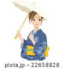 女性 浴衣 夏のイラスト 22658828