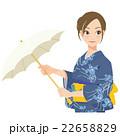 女性 浴衣 夏のイラスト 22658829