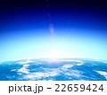 地球と上る太陽 22659424