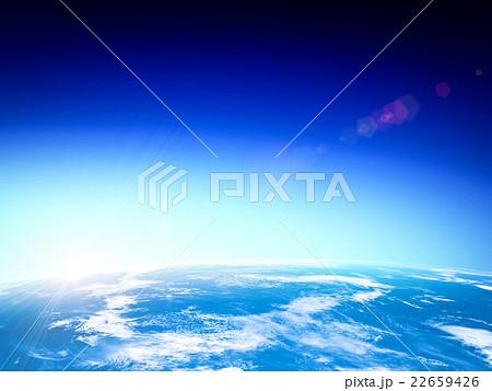 地球と上る太陽 22659426