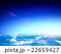 地球と上る太陽 22659427