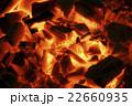 燃える炭火 22660935