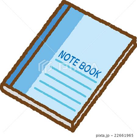 ノート青のイラスト素材 22661965 Pixta
