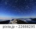 南アルプス・観音岳から星空と月明かりの富士山 22666295