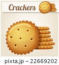 クラッカー ベクトル クッキーのイラスト 22669202
