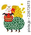 獅子舞 招き猫 縁起物のイラスト 22672673