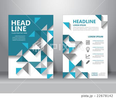 brochure flyer design template. vectorのイラスト素材 [22678142] - PIXTA