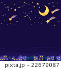 夜空 星 流れ星のイラスト 22679087