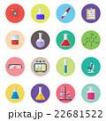 Set icon chemicals 22681522