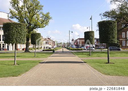 イギリスの田園都市:レッチワースの街並み 22681848