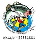 ブラックバス釣り-アメコミ風 22681881