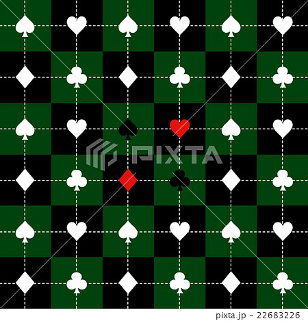 Card Suits Green Black Chess Board Backgroundのイラスト素材 [22683226] - PIXTA