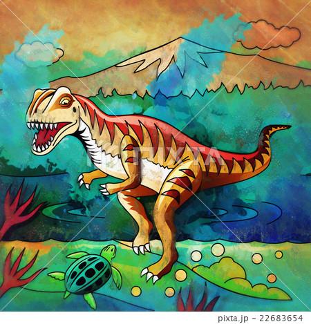 Dinosaur in the habitat. Illustration Ofのイラスト素材 [22683654] - PIXTA