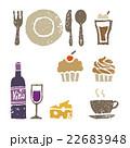 ワイン、スイーツ、カフェ、レストラン素材 22683948
