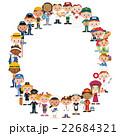 働く人々集合 22684321