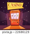 カジノ カジノの スロットのイラスト 22686129