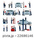 人 車 自動車のイラスト 22686146