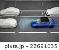 市街地走行中自動ブレーキをかける乗用車のコンセプトイメージ 22691035