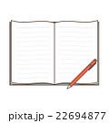 ノートとペン 22694877