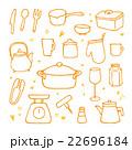 手描きキッチンイラストセット2 22696184