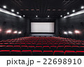 Empty rows of red theater or movie seats. Chairs 22698910