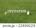 芝生のInvitation(文字ブロック) 22699229