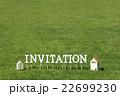 芝生のInvitation(文字ブロック) 22699230