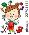 料理 クッキング 女性のイラスト 22704454