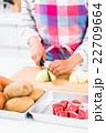 カレーを作る若い女性 22709664