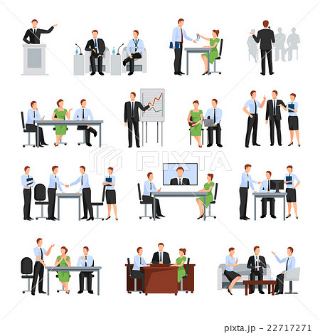 Business Conference Icons Set 22717271