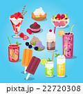 Large Set of Sweets Food Design Flat 22720308