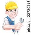 Plumber in Hardhat Holding Spanner 22720316