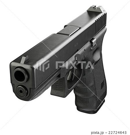 Gun metallic police, military, front viewのイラスト素材 [22724643] - PIXTA