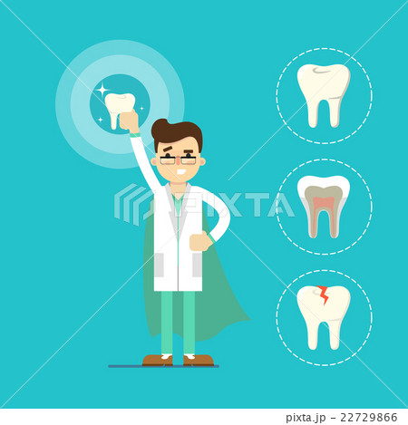 Dentist with tooth, raster illustration 22729866