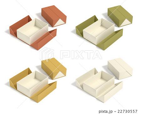 お菓子用のパッケージ4つのカラーバリエーションのイラスト素材