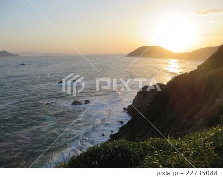 島国の夕日 22735088