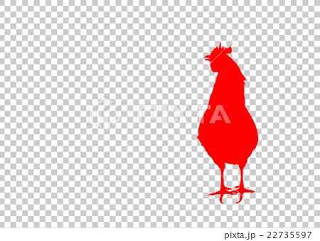 酉 酉年 とり 鶏 ニワトリ にわとり  白バック 年賀素材 干支 2017 平成29年 22735597