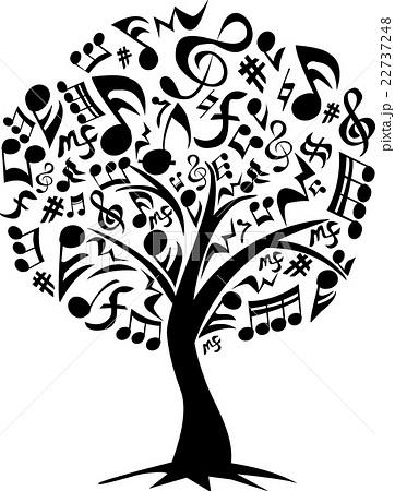 音符の木のイラスト素材 22737248 Pixta