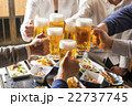 居酒屋で乾杯をする男女 22737745