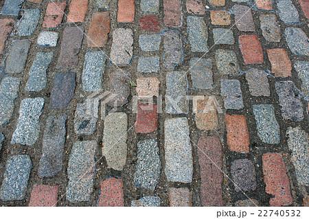 ヨーロッパの石畳 地面 道路 Europe bricks road 22740532