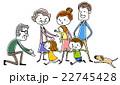 家族 祖父母 子供のイラスト 22745428